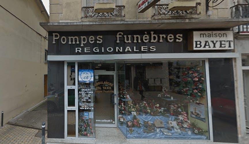 Photographie de la Pompes Funèbres Bayet dans La Tour-du-Pin