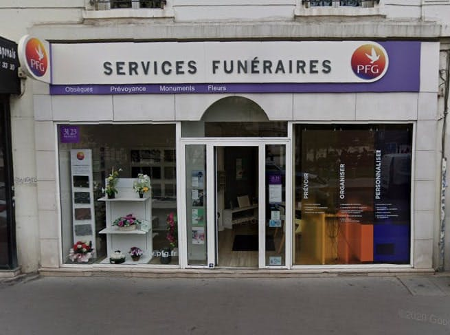 Photographie des Pompes Funèbres Genérales à Asinères-sur-Seine