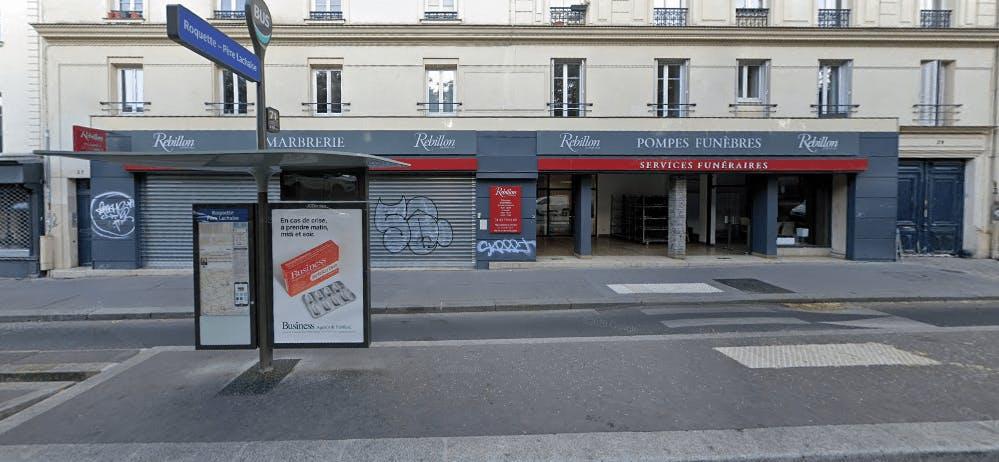 Photographie de la Pompes Funèbres et Marbrerie Rebillon à Paris