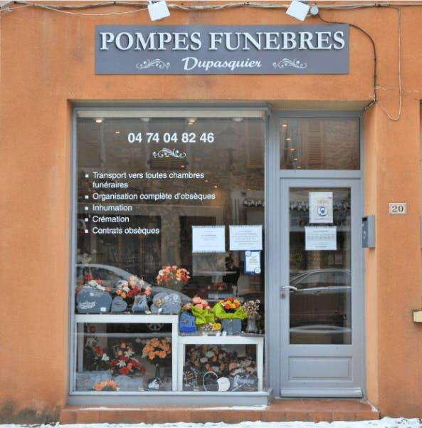 Photographie de la Pompes Funèbres Dupasquier    de la ville de Tramayes