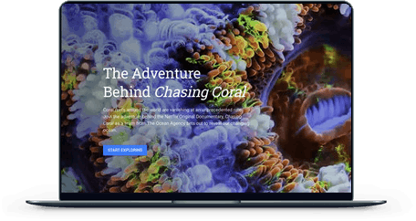 The Adventure Behind Chasing Coral screen mockup
