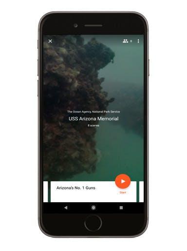 USS Arizona Memorial phone screen mockup