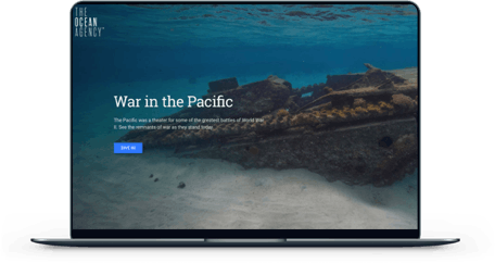 War in the Pacific Partner: U.S. National Park Service screen mockup