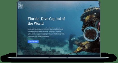 Florida: Dive Capital of the World screen mockup