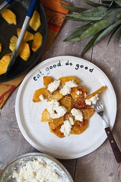 image of Grilled Pineapple With Coconut Cream