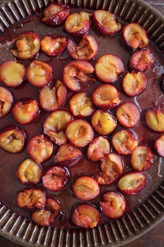 Cooked plums