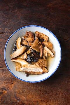 dried mushrooms in bowl