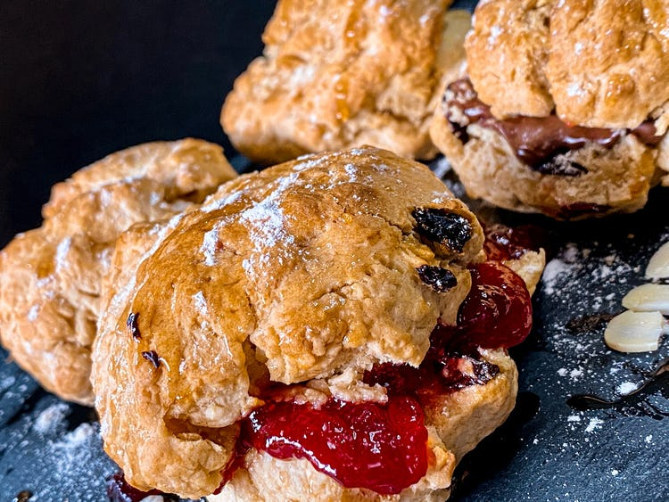 Sage and apple scones