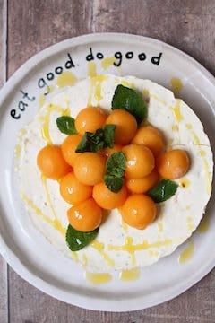 savoury melon cheesecake
