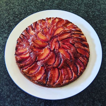 A glazed plum cake made by @thelexypage on Instagram.