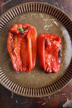 2 red roasted bell peppers