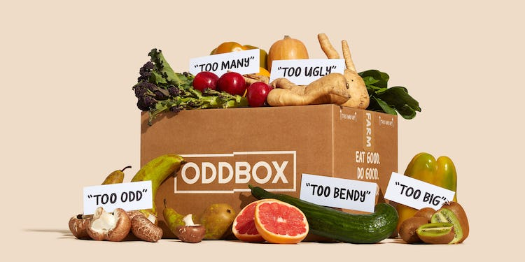 Oddbox with labels