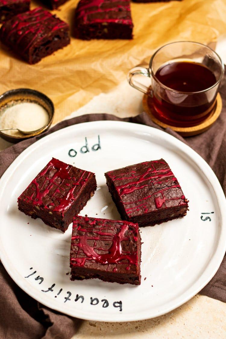 image of beetroot brownies