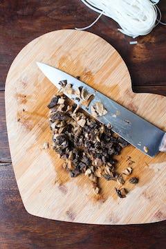 finely chopped rehydrated mushroom