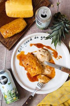 image of pineapple toast mango beer