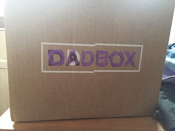 An Oddbox that has been redrawn on to read 'Dadbox' as a father's day gift box. Done by Dulcie Rowe and her kids.