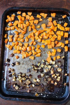 roasted veggies out of the oven