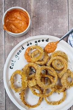 image of Baked Onion Rings with Dipping sauce