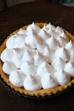 meringue put on top of the pie