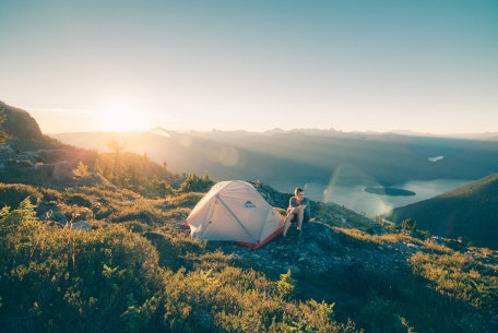 Pitch your tent at the top of a mountain