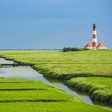 world natural heritage Westerhever lighthouse Nordfriesland