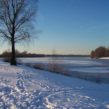 Winter atmosphere at Wesel, Lower Rhine