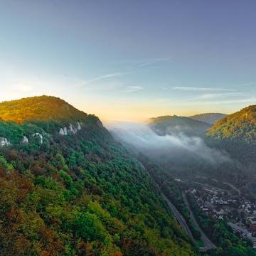 Valley in Swabian Jura (Germany)