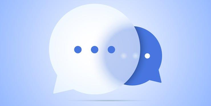Ilustração balões de fala