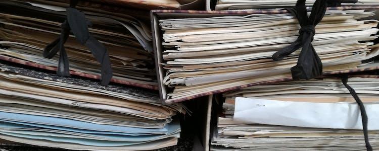 Stacks of binders