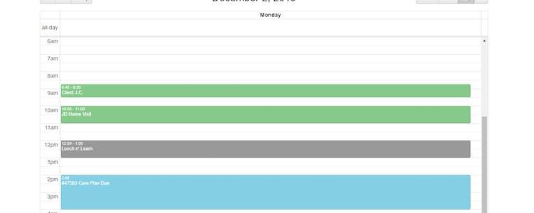 Calendar View - Month