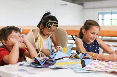 Photo of children doing a Superpower Academy
