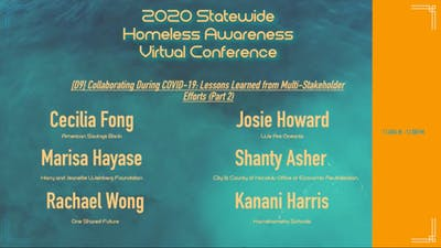 Screenshot of a list of virtual conference participants
