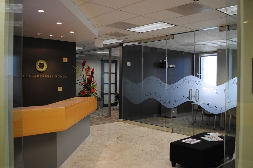 Photo of office front desk