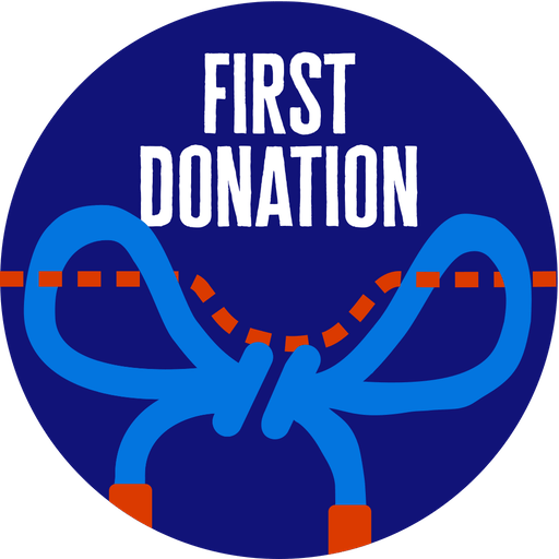 First Donation badge