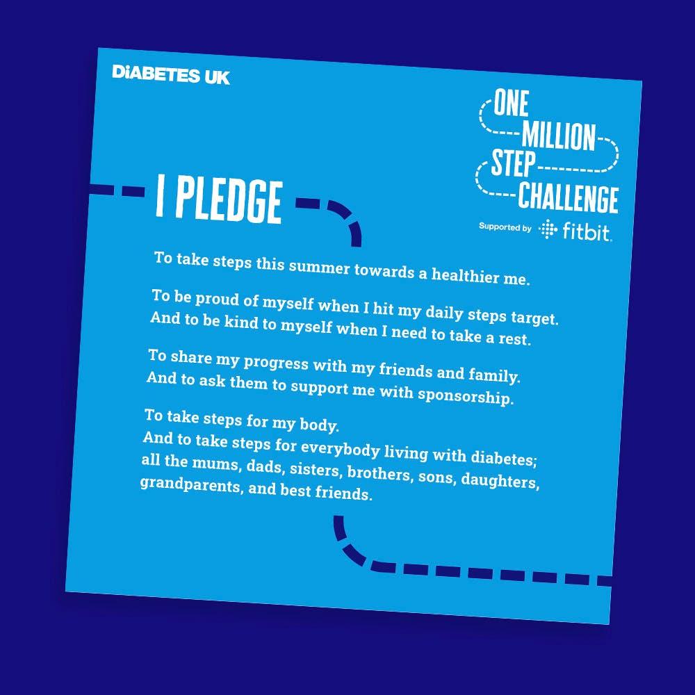 Your Million Steps pledge