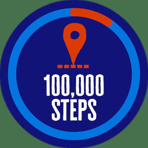 100,000 steps badge