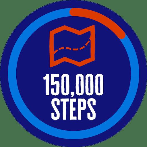 150,000 steps badge