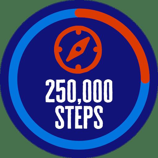 250,000 steps badge