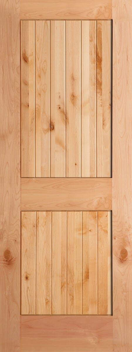 2-Panel V-Groove Knotty Alder