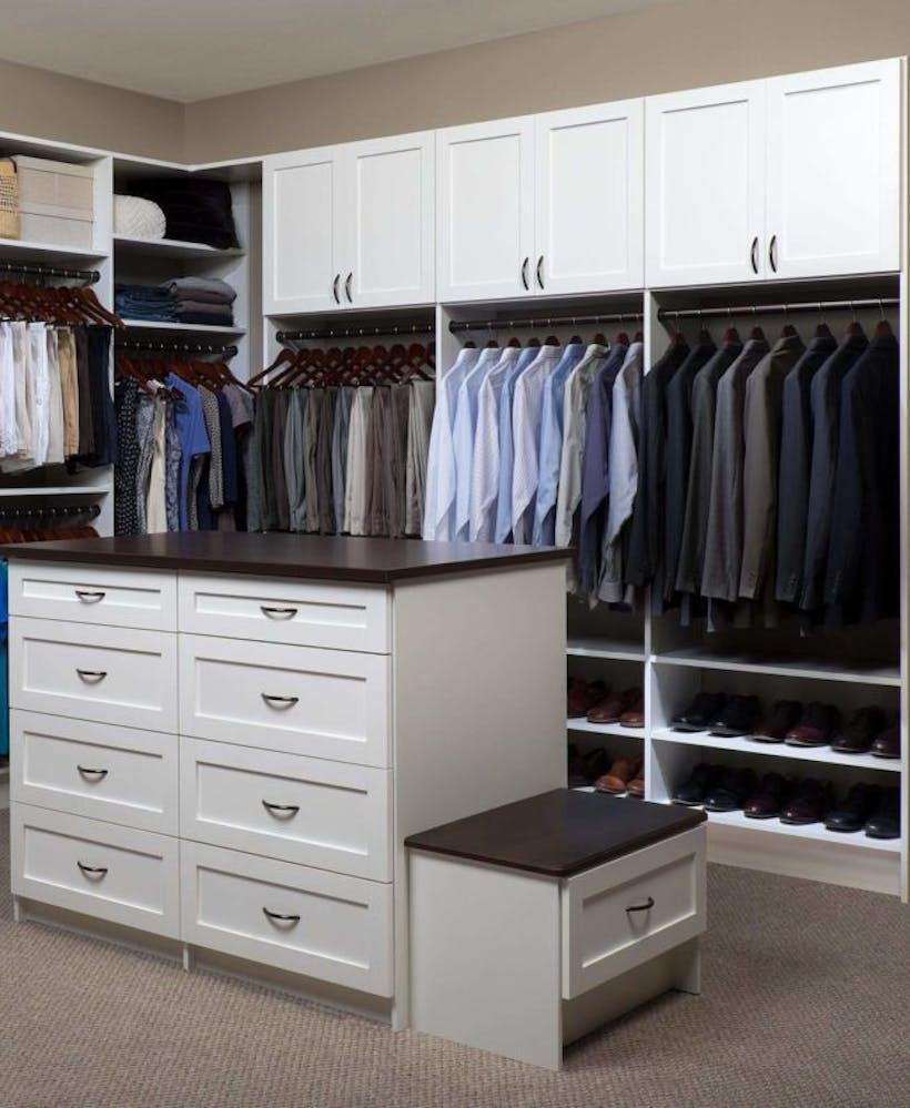 A custom closet space.
