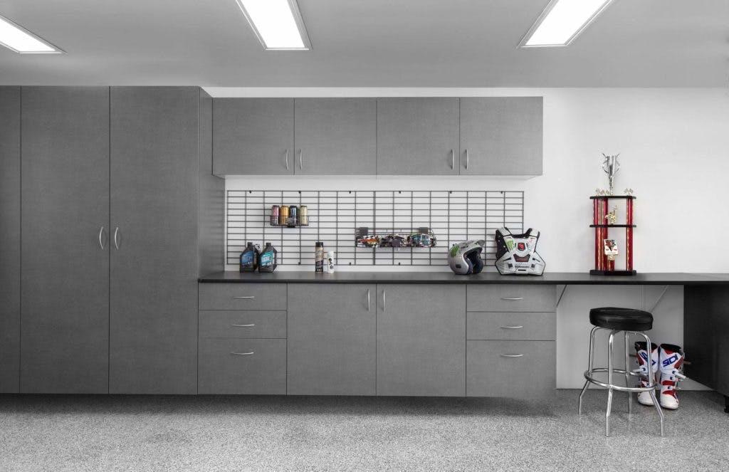 Garage Storage Pewter Workbench