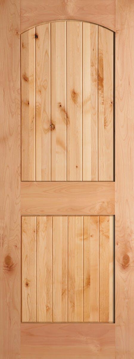 2-Panel Arch V-Groove Knotty Alder