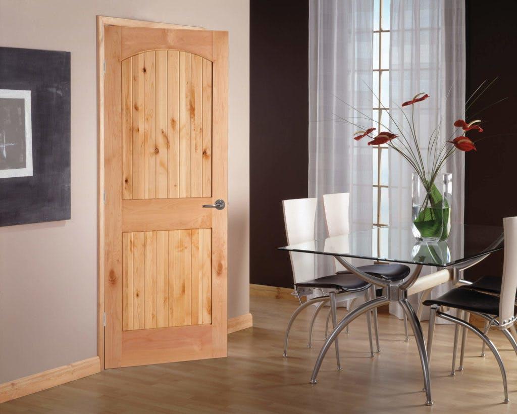 Interior Doors Authentic Wood 2-Panel Arch-top