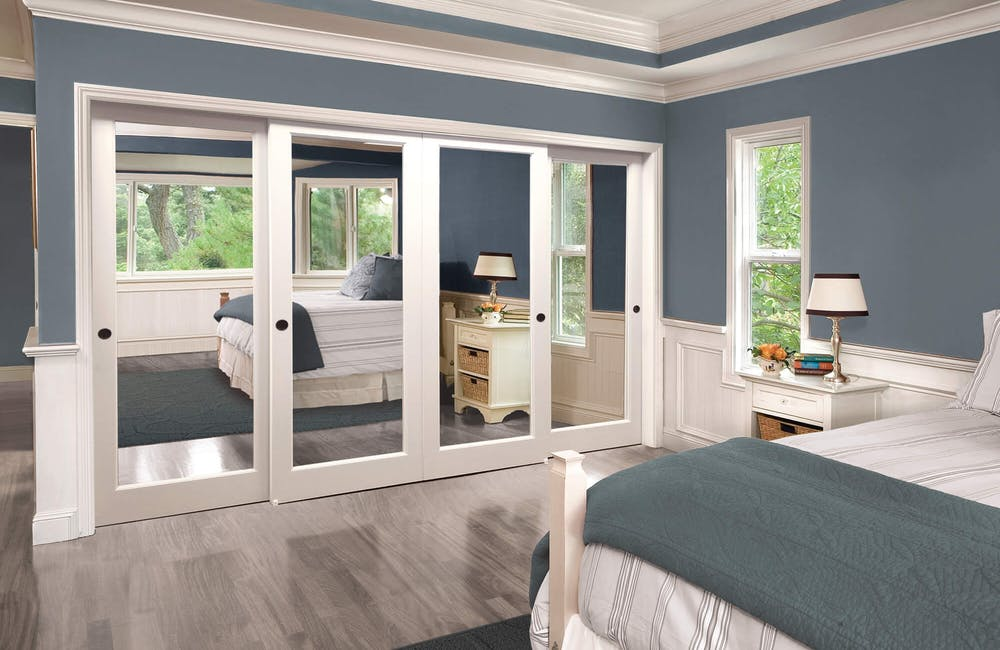 4-Panel Mirrored Closet Doors