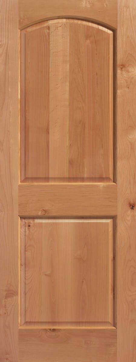 2-Panel Arch Knotty Alder