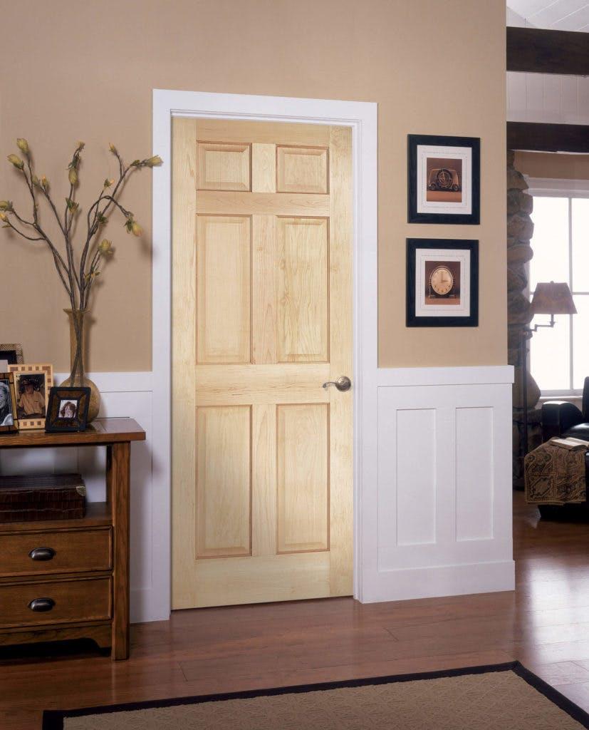 Interior Doors Authentic Wood 6-Panel