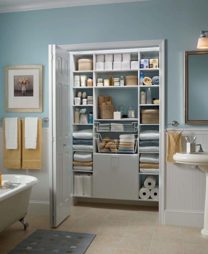 A custom home organizer space.