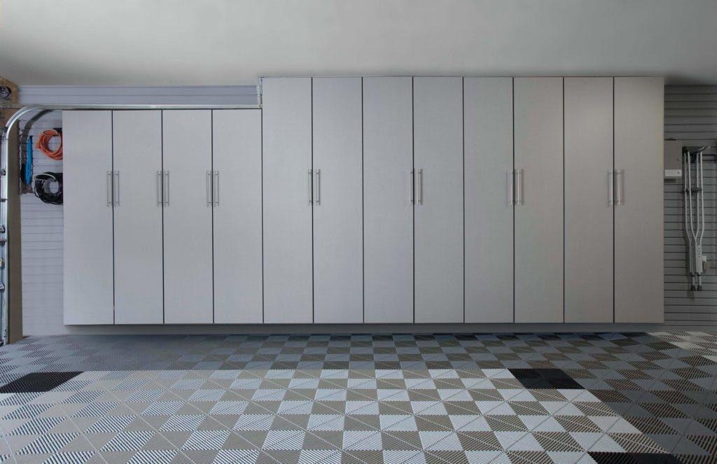 Garage Storage Silver Cabinets