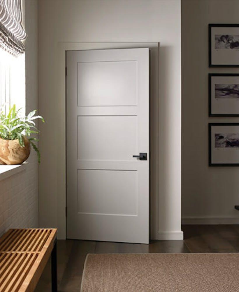 A beautiful interior door.