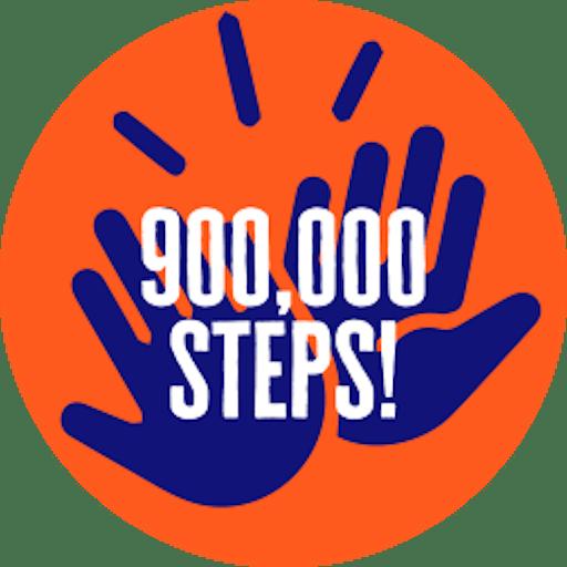 900,000 steps